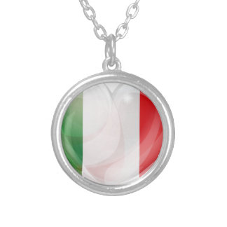Italian flag love heart necklaces