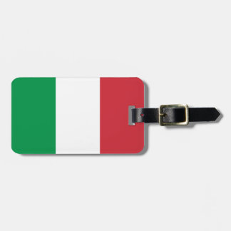 Italian flag luggage tags for bags and suitcases