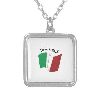 Italian Flag Custom Necklace