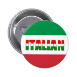Italian Flag of Italy 6 Cm Round Badge
