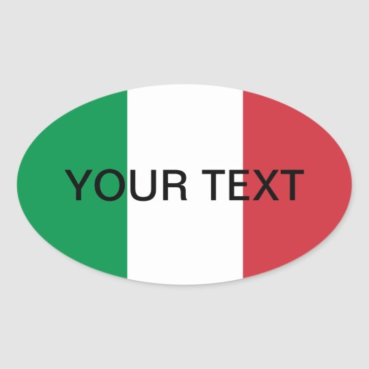 Italian flag oval sticker | Flag of Italy