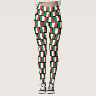 Italian flag pattern leggings for yoga fitness gym