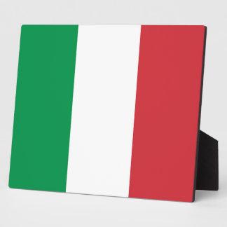 Italian Flag Plaque
