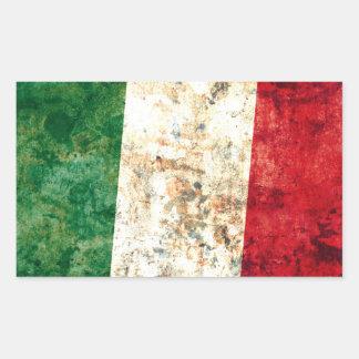 Italian Flag Rectangular Sticker
