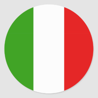Italian Flag Round Sticker