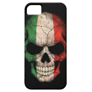 Italian Flag Skull on Black iPhone 5 Case