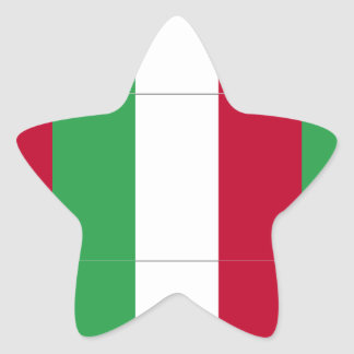 ITALIAN FLAG STAR STICKER