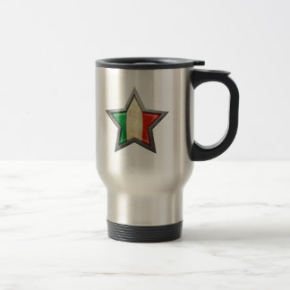Italian Flag Star Travel Mug