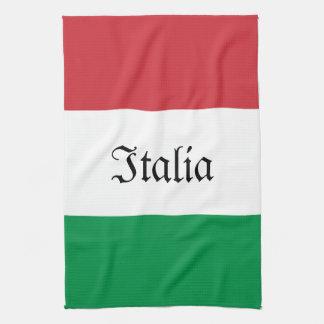 Italian Flag Tea Towel