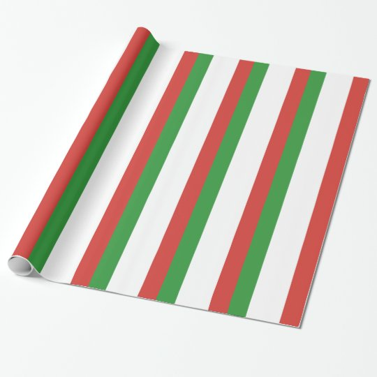 Italian Flag Wrapping Paper