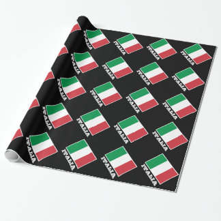Italian flag wrapping paper | Tricolore design