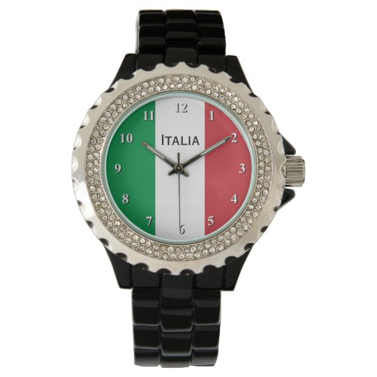 Italian flag wrist watch for men and women