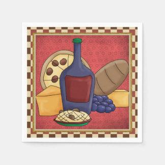 Italian Food fun paper napkins Disposable Serviette