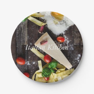 Italian Food Personalize Text Paper Plate