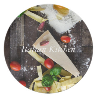 Italian Food Personalize Text Plate