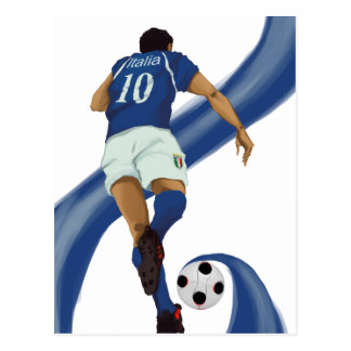 italian football gifts for Azzurri soccer fans Postcard