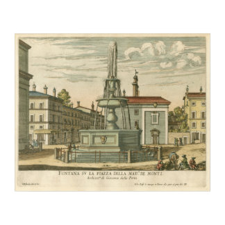 Italian Fountain in Town Square by Falda Acrylic Print