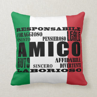 Italian Friends : Qualities Throw Pillow