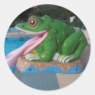 Italian Frog Slide Round Sticker