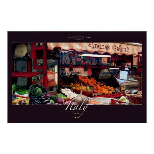 Italian Fruit Stand Poster