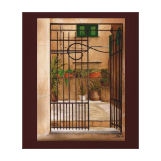Italian Gate Canvas Print
