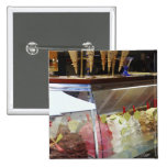 Italian gelato in display case 15 cm square badge
