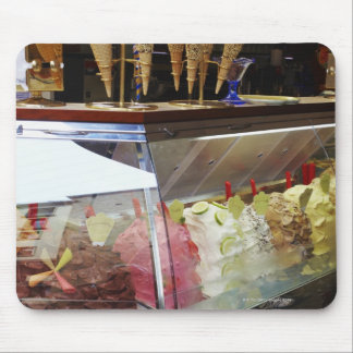 Italian gelato in display case mouse pad