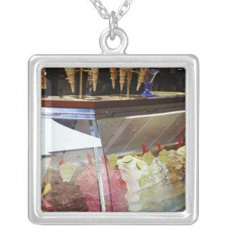 Italian gelato in display case custom necklace