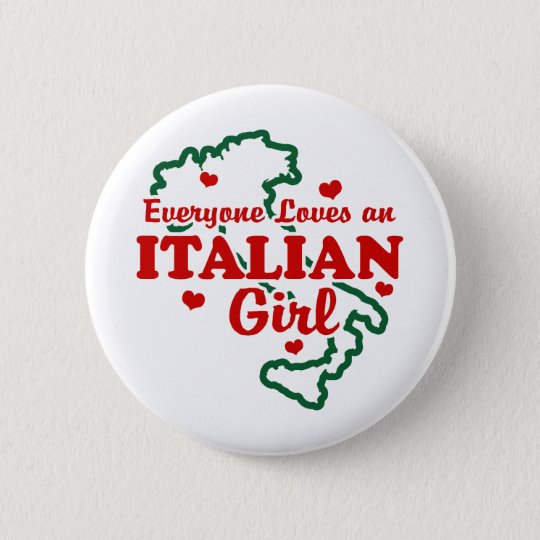 Italian Girl 6 Cm Round Badge