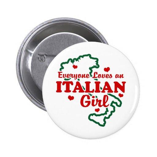 Italian Girl Buttons