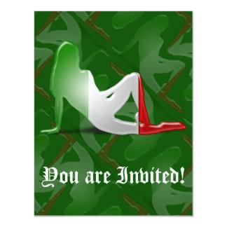 Italian Girl Silhouette Flag 11 Cm X 14 Cm Invitation Card