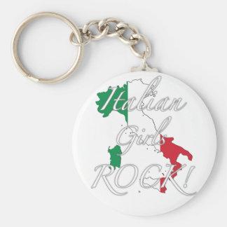 Italian Girls Rock! Basic Round Button Key Ring