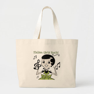 Italian Girls Rock Large Tote Bag