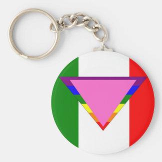 Italian GLBT Pride Keychain