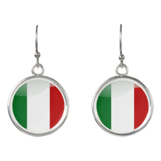 Italian glossy flag earrings