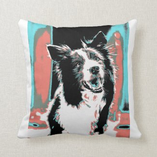 Italian Golden Retriever dog throw pillow