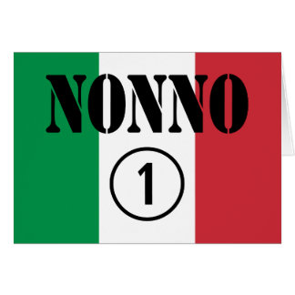 Italian Grandfathers : Nonno Numero Uno Cards