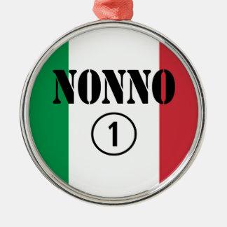 Italian Grandfathers Nonno Numero Uno Christmas Tree Ornaments