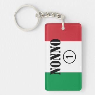 Italian Grandfathers : Nonno Numero Uno Single-Sided Rectangular Acrylic Key Ring