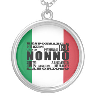 Italian Grandfathers : Qualities Personalized Necklace