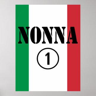 Italian Grandmothers Nonna Numero Uno Poster