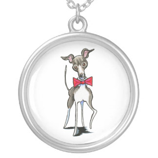 Italian Greyhound Antonio Silver Plated Necklace