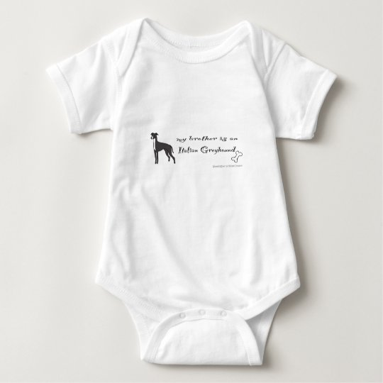 italian greyhound baby bodysuit