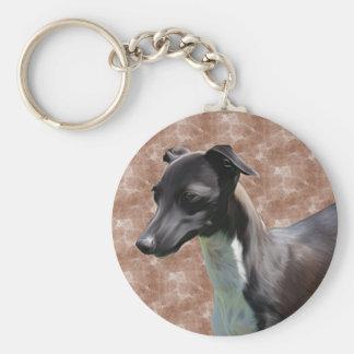 Italian Greyhound Basic Round Button Key Ring