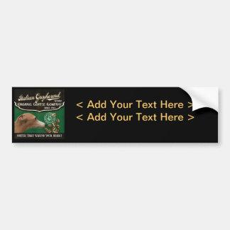 Italian Greyhound Brand - Organic Coffee Company Bumper Sticker