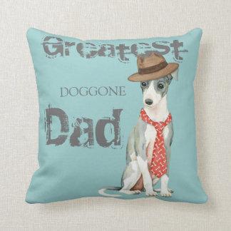 Italian Greyhound Dad Cushion