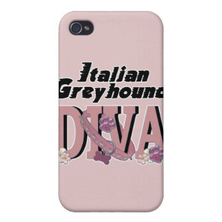 Italian Greyhound DIVA Cover For iPhone 4