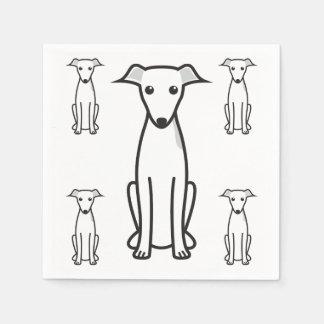 Italian Greyhound Dog Cartoon Disposable Napkin