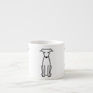 Italian Greyhound Dog Cartoon Espresso Cup