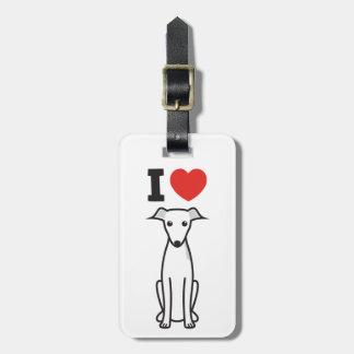 Italian Greyhound Dog Cartoon Luggage Tag